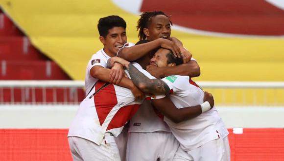 El segundo gol peruano terminó con una celebración que desbordó en emociones. (Foto: FPF)