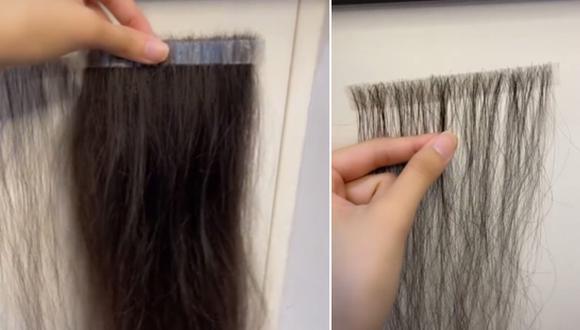 Una mujer ha sorprendido en Internet al recoger el cabello que se le cae para luego convertirlo en extensiones. (Foto: @chloelee397 / TikTok)
