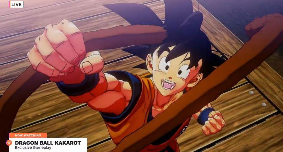 Escena de Goku con su cola en el nuevo juego de Dragon Ball (IGN)