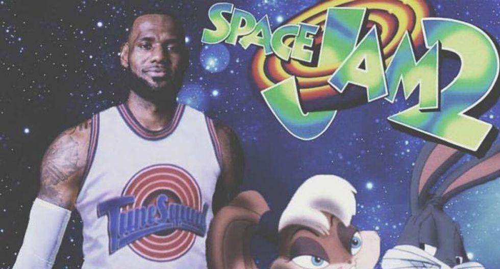 LeBron James reveló el nuevo logo de la película Space Jam 2. (Difusión)