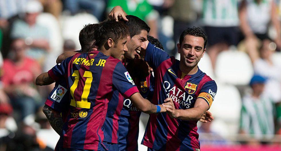 Neymar y Xavi Hernández jugaron juntos en el Barcelona hasta 2015. (Getty)