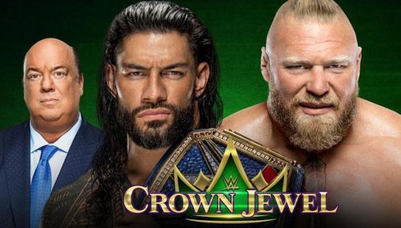Roman Reigns enfrentará a Brock Lesnar en Crown Jewel 2021. (WWE)