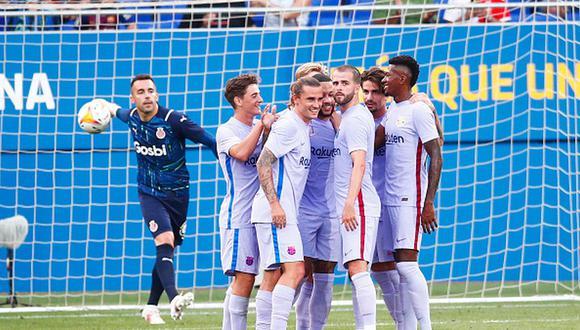 Depay marcó uno de los goles en el triunfo del Barcelona sobre Girona. (Getty)