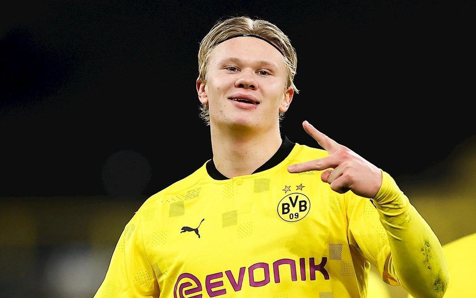 Erling Haaland se convirtió en el primer jugador en debutar en la Bundesliga con un triplete siendo suplente.  (Foto: EFE)