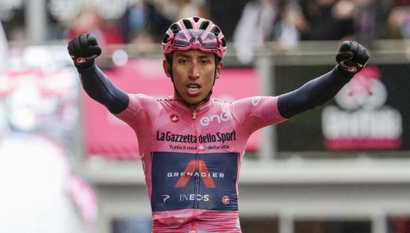Egan Bernal es el líder del Giro de Italia a falta de 5 jornadas. (Foto: AFP)
