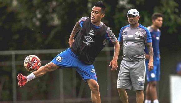 Cueva arremetió contra Sampaoli. (Foto: Santos FC)