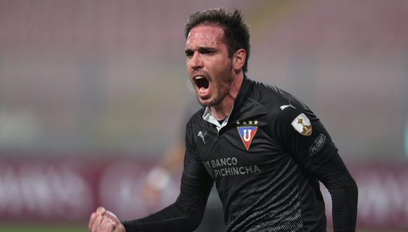 Matías Zunino marcó el único gol del encuentro entre Binacional y LDU de Quitpo. (Foto: EFE)