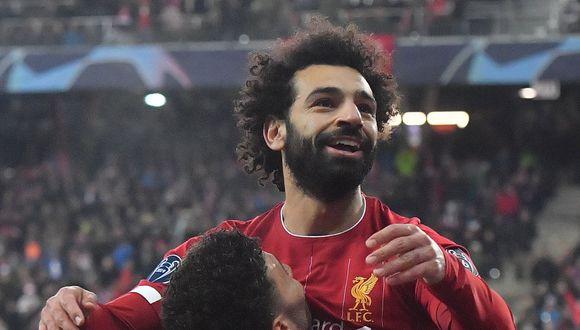 YouTube viral: Salah aprovechó error del defensa y decretó el 2-0 para el Liverpool frente al Red Bull Salzburgo. Foto: AFP