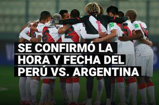 FPF confirmó la fecha y hora del Perú vs. Argentina que se disputará en el Estadio Nacional