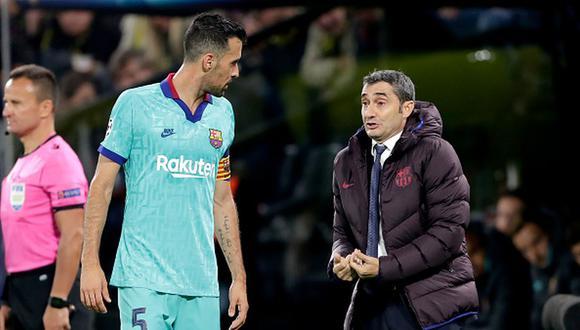 Busquets sería uno de los que apostó por la salida de Valverde del Barcelona. (Getty Images)