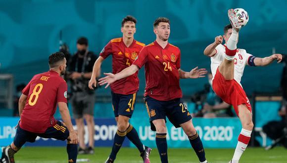 España tiene dos puntos en el Grupo E de la Eurocopa y complica su clasificación a la siguiente fase (Foto: AFP)