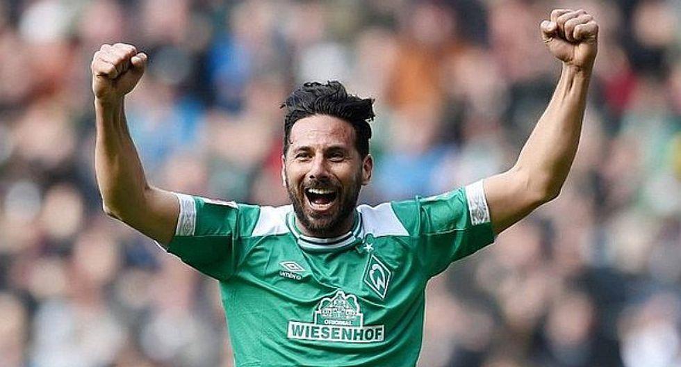 Sigue vigente: Claudio Pizarro logró su victoria 100 en Werder Bremen. (Foto: Internet)