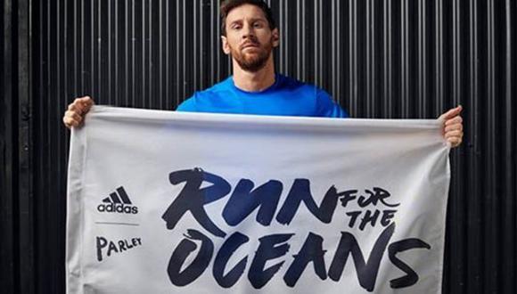Campaña invita a correr para donar kilómetros por un  océano libre de plástico. (Adidas)