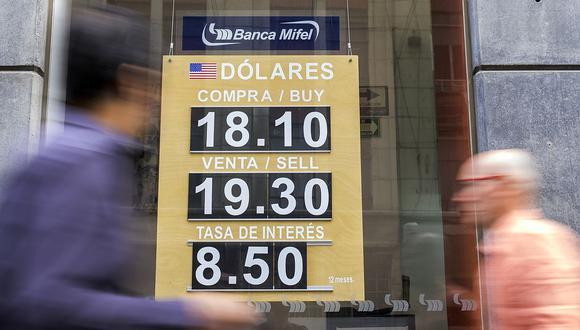 El dólar se cotizaba a 19,9 pesos en México este lunes (Foto: GEC).