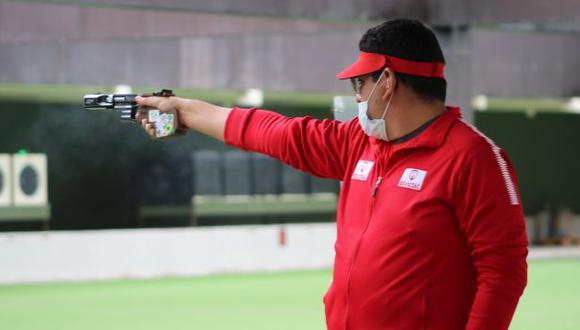 Marko Carrillo se coronó campeón de pistola tiro rápido en el Campeonato Nacional de Tiro 2020. (IPD)