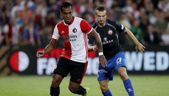 Renato Tapia es jugador del Feyenoord desde la temporada 2015/2016. (Agencias)
