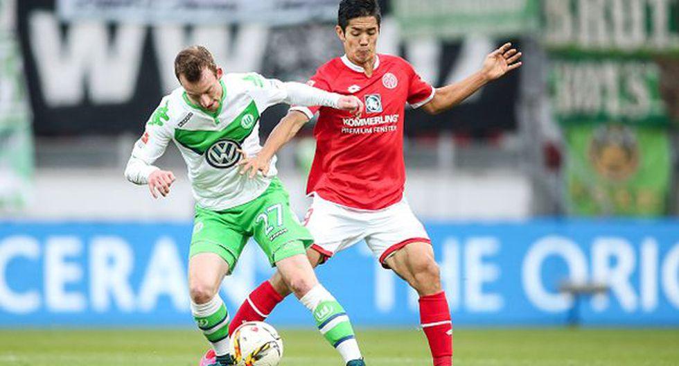 Wolfsburgo empató 1-1 con el Mainz 05 por la Bundesliga (Getty).