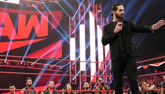 Seth Rollins reunió a todo el elenco de Raw para hablar sobre la derrota del show rojo en Survivor Series 2019. (Foto: WWE)