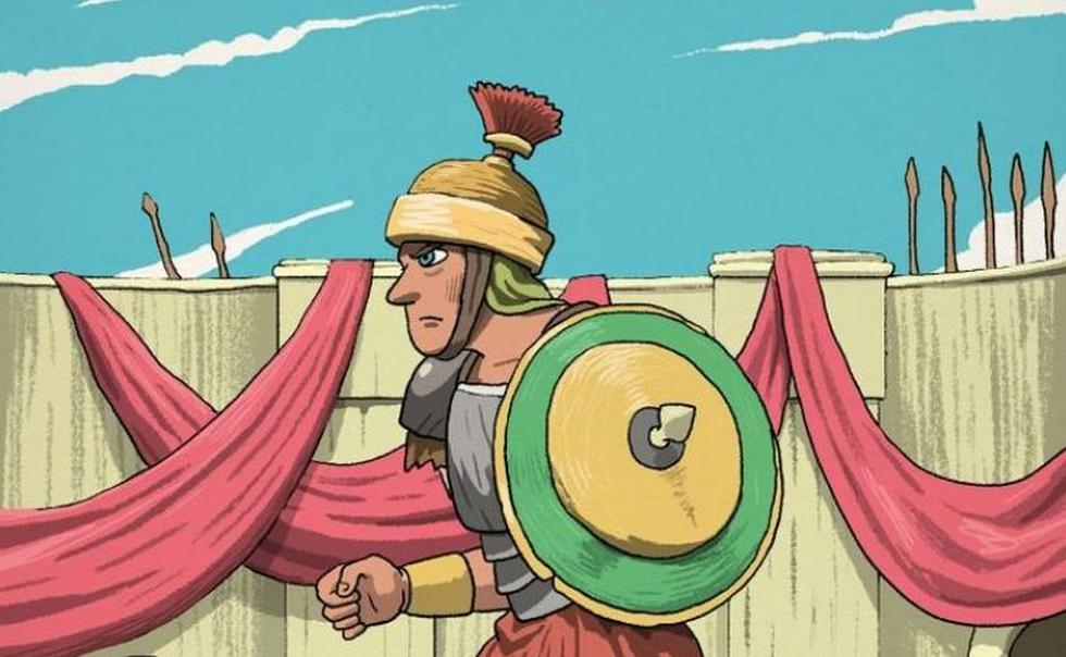 Puedes ubicar la espada oculta en la imagen del guerrero romano. (Facebook)