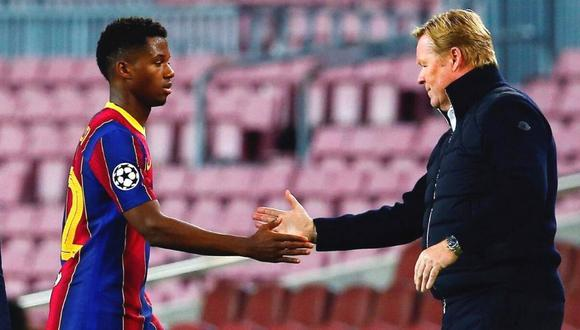 Ansu Fati lleva cinco goles en la temporada 2020-21 del FC Barcelona. (Foto: EFE)