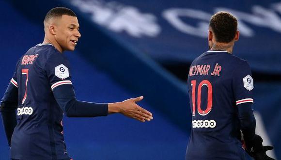 Neymar y Kylian Mbappé tienen contrato con PSG hasta mediados del 2022. (Foto: AFP)