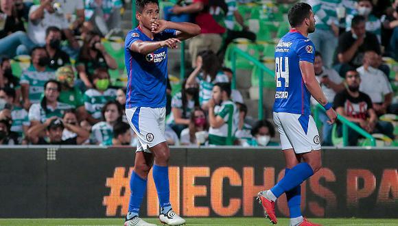 Cruz Azul vs. Santos Laguna se vieron las caras este jueves por la final de la Liga MX 2021 (Getty Images)
