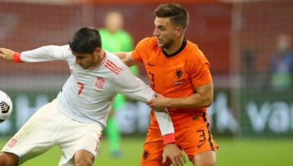 España vs Holanda igualaron 1 a 1 en Ámsterdam. (Foto: AFP)