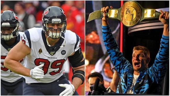 Jugador de la NFL cree que Rob Gronkowski podría defender su título de WWE en medio de un partido. (Getty Images/WWE)