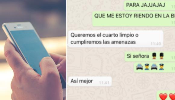 Un joven dio a conocer las amenazas que le dio su madre por WhatsApp. Las palabras de la mujer divirtieron en Internet. (Foto: @Tresserras30 en Twitter y Dariusz Sankowski en Pixabay)