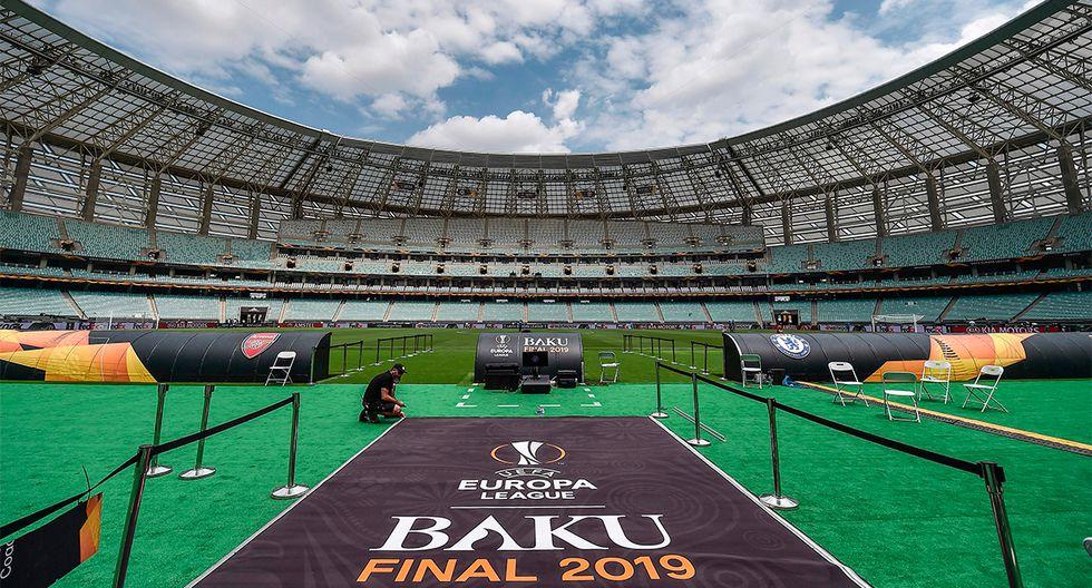 La gran final de la Europa League se jugará en Baku, capital de Azerbaiyan. (Foto: AFP)