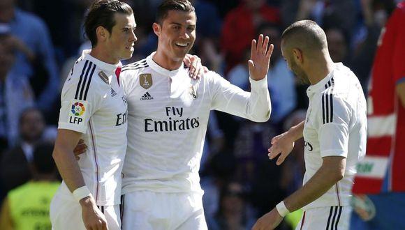 Karim Benzema, Gareth Bale y Cristiano Ronaldo formaron la llamada 'BBC'. (Foto: agencias)