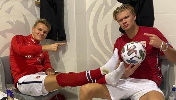 Odegaard y Haaland son compañeros en la selección noruega. (Foto: Marca)