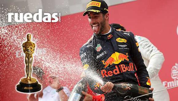 Daniel Ricciardo fue premiado como mejor director por tomar una cámara de televisión y filmar los boxes de Mercedes-Benz durante la fecha en Italia. (Difusión/Ruedas&Tuercas)