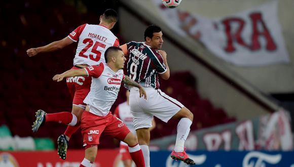 Fluminense derrotó a Santa Fe y lidera el Grupo D de Copa Libertadores. (Foto: Conmebol)