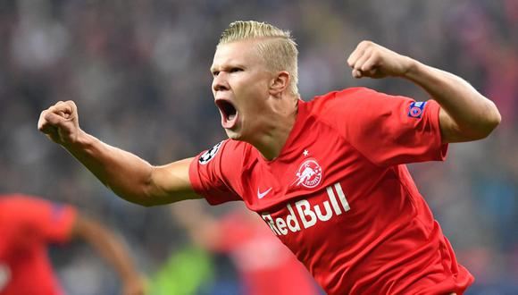 El delantero noruego Herling Haaland es el reciente fichaje del Borussia Dortmund. (AFP)