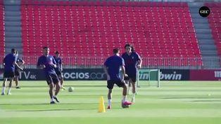 España: Atlético de Madrid se prepara para visitar el Camp Nou