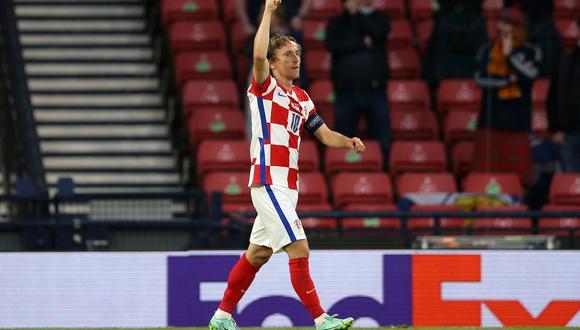 Luka Modric marcó un golazo para Croacia frente a Escocia. (Foto: Agencias)