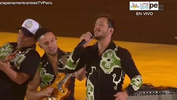 Bareto fue la banda principal en la inauguración de los Juegos Parapanamericanos 2019. (Captura TV Perú)