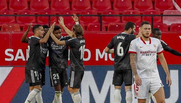 Real Madrid venció a Sevilla tras un autogol de Bono a los 55 minutos. (Foto: AP)