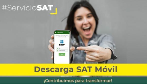 SAT Móvil: pasos para emitir facturas desde tu celular (Foto: @SATMX)