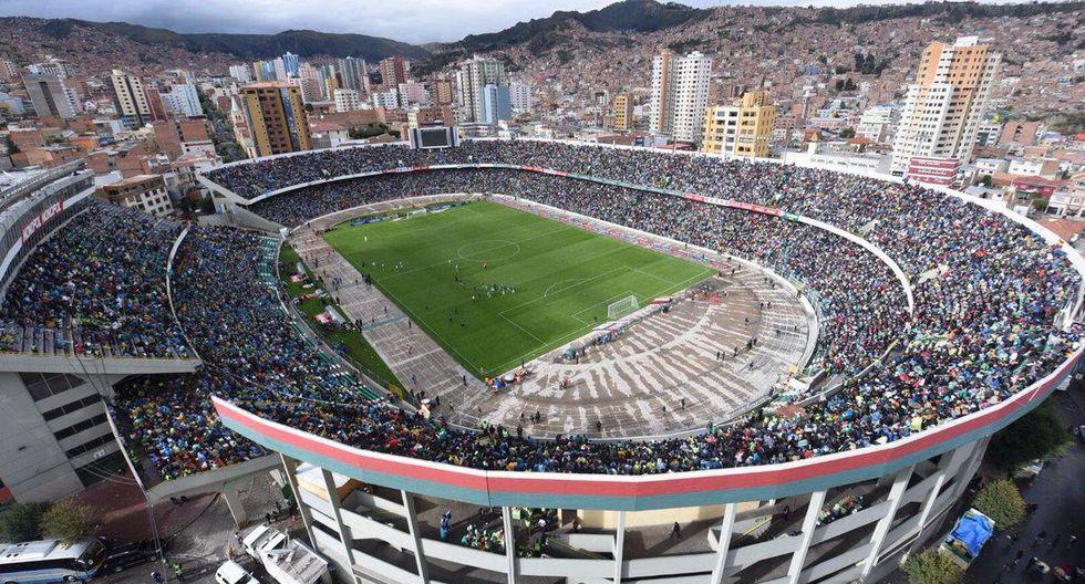 Estadio Hernando Siles (La Paz - Bolivia): ubicado a 3,577 m.s.n.m. (Foto: Agencias)