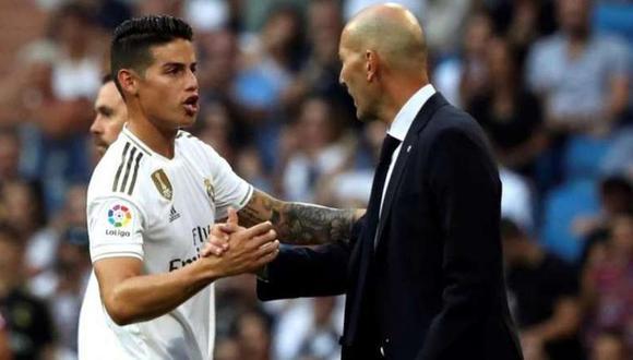 James Rodríguez vivió cuatro temporadas en el Real Madrid. (Foto: EFE)