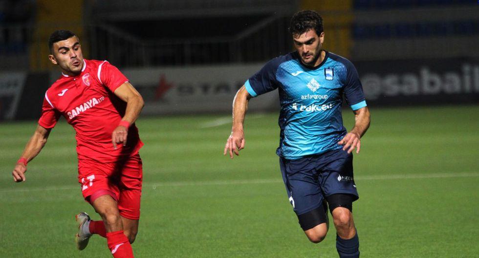 Ampuero y su gran desafío en el fútbol de Azerbaiyán. (Foto: Zira FC)