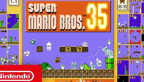 """Conoce hasta cuándo podrás descargar gratis """"Super Mario 35"""" para Nintendo Switch"""