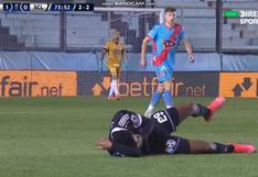 Felizmente se recuperó: la terrible falta sobre Nilson Loyola en el Sporting Cristal vs. Arsenal [VIDEO]