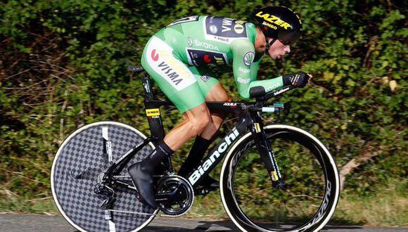 Primoz Roglic fue el más rápido en la décima etapa. (Foto: Twitter de la La Vuelta)