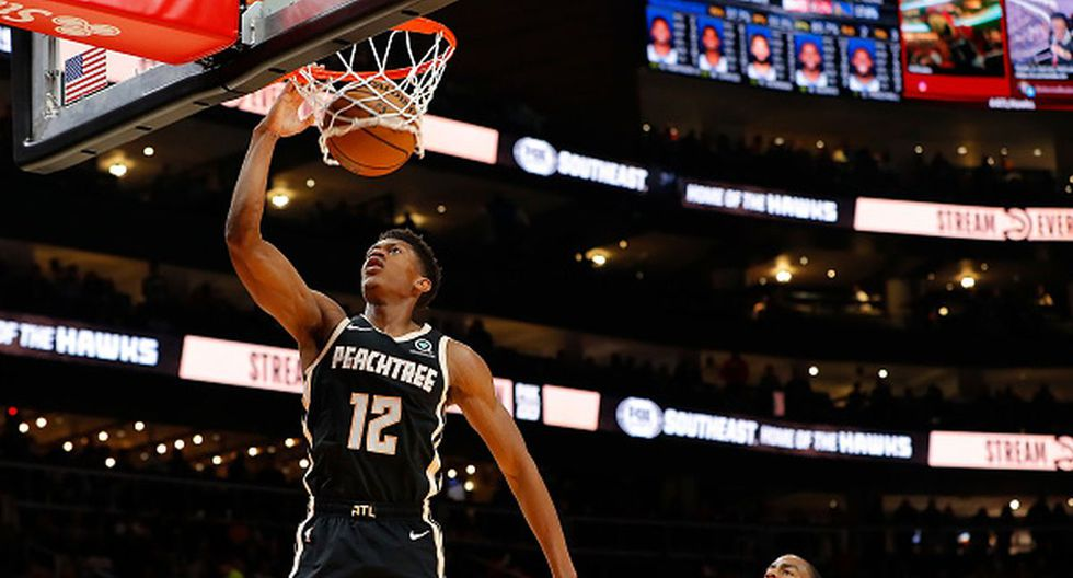 De'Andre Hunter se lució con los Hawks. (Foto: Getty Images)