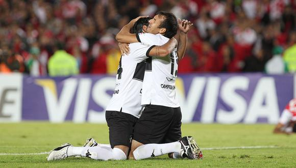 Libertad venció a Internacional por los octavos de final de la Copa Libertadores. (Foto: Agencias)