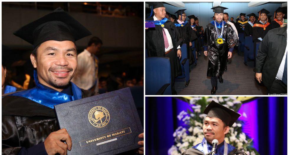 Manny Pacquiao tiene un récord de 62-7 como boxeador profesional. (Twitter)