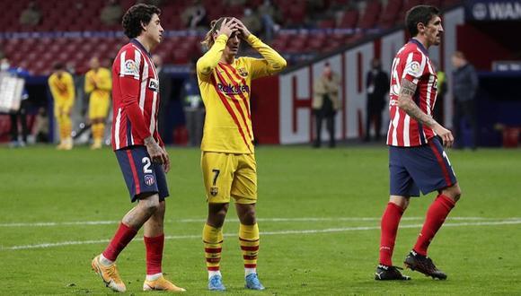 Barcelona cayó por la mínima diferencia ante Atlético de Madrid. (Foto: AFP)